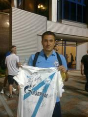 футболка фк Зенит с автографами 2012